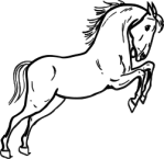 warszawianka_Jumping_horse_outline